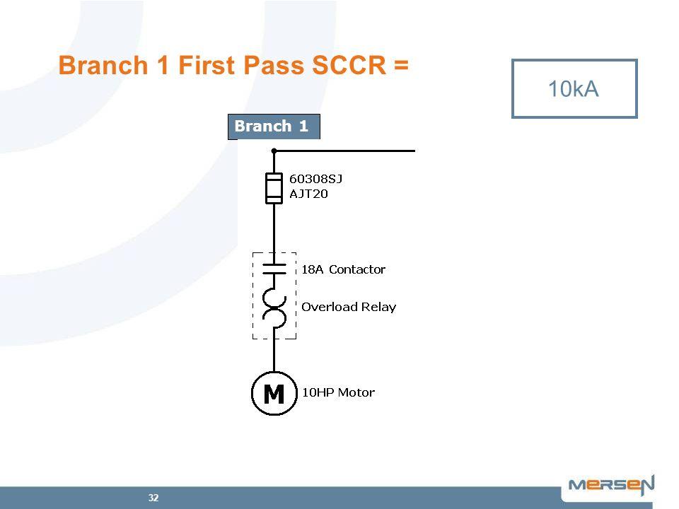 Branch 1 First Pass SCCR =