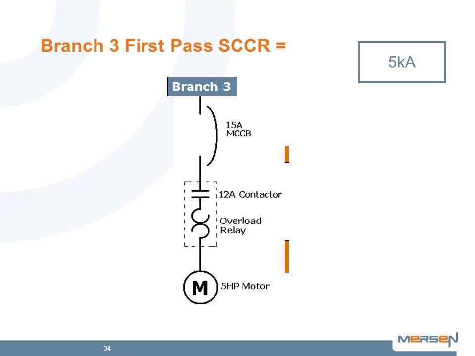 Branch 3 First Pass SCCR =