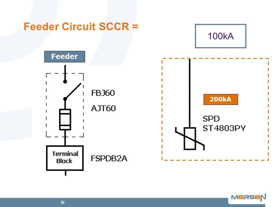 Feeder Circuit SCCR = 100kA Feeder 200kA 200kA 100kA