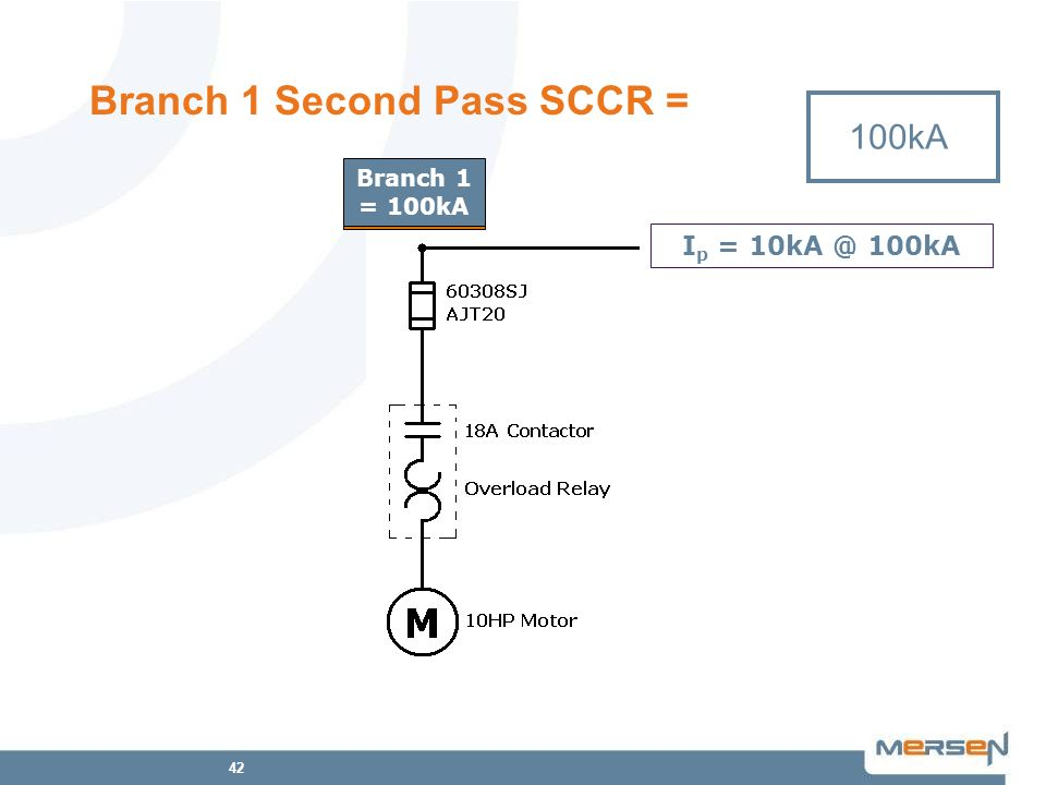 Branch 1 Second Pass SCCR =