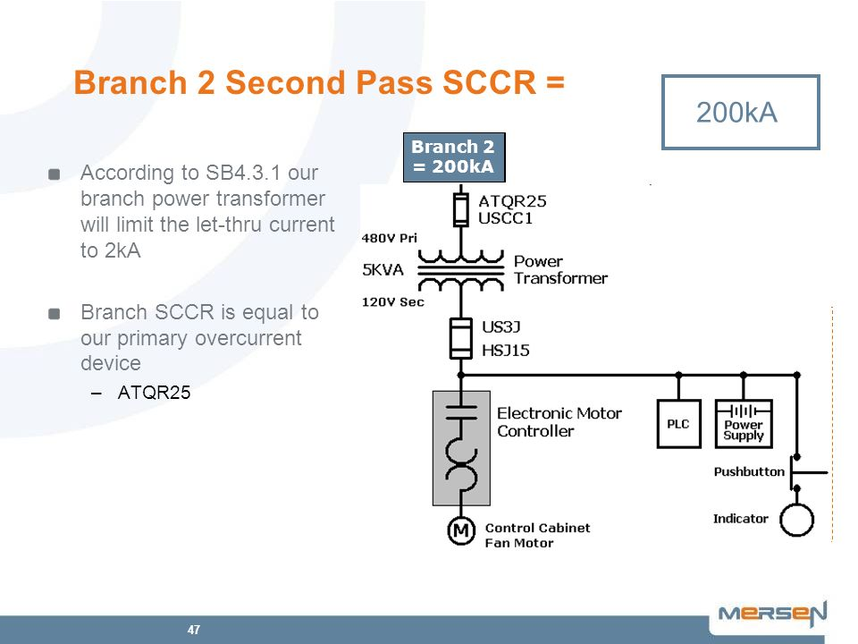 Branch 2 Second Pass SCCR =