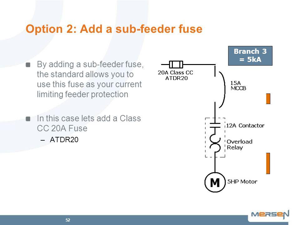 Option 2: Add a sub-feeder fuse