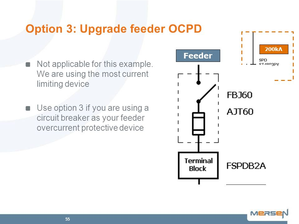 Option 3: Upgrade feeder OCPD