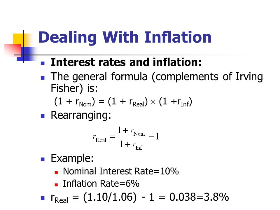 Dealing With Inflation