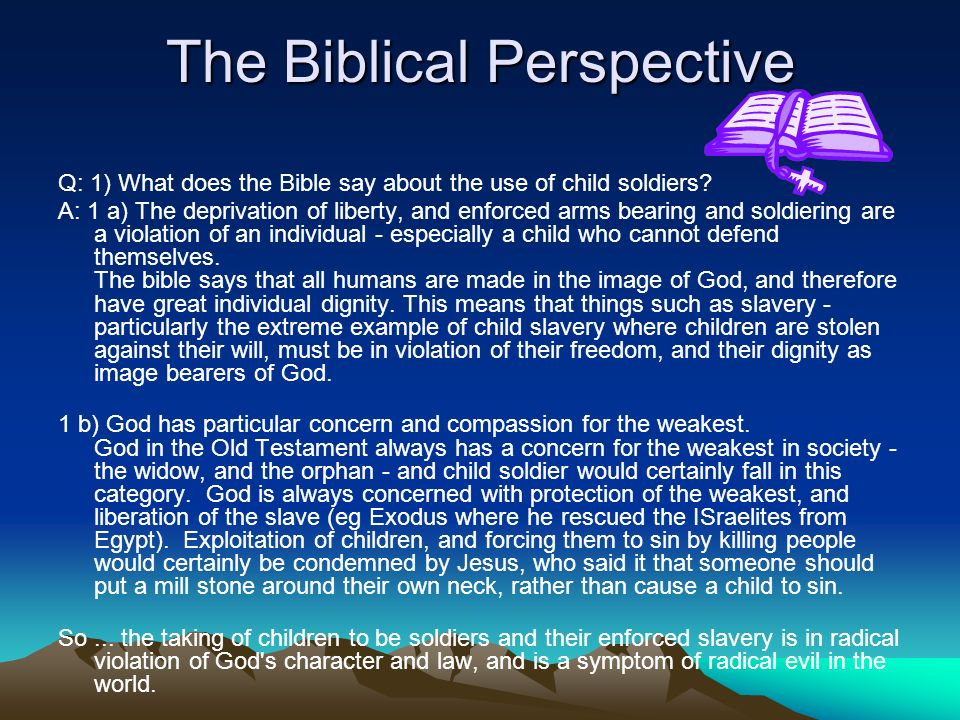 The Biblical Perspective