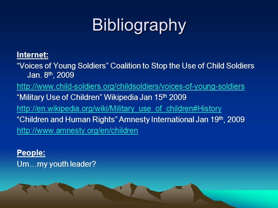 Bibliography Internet: