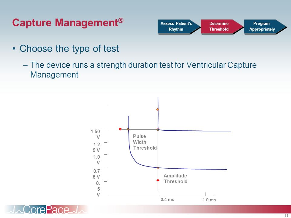 Capture Management® Choose the type of test