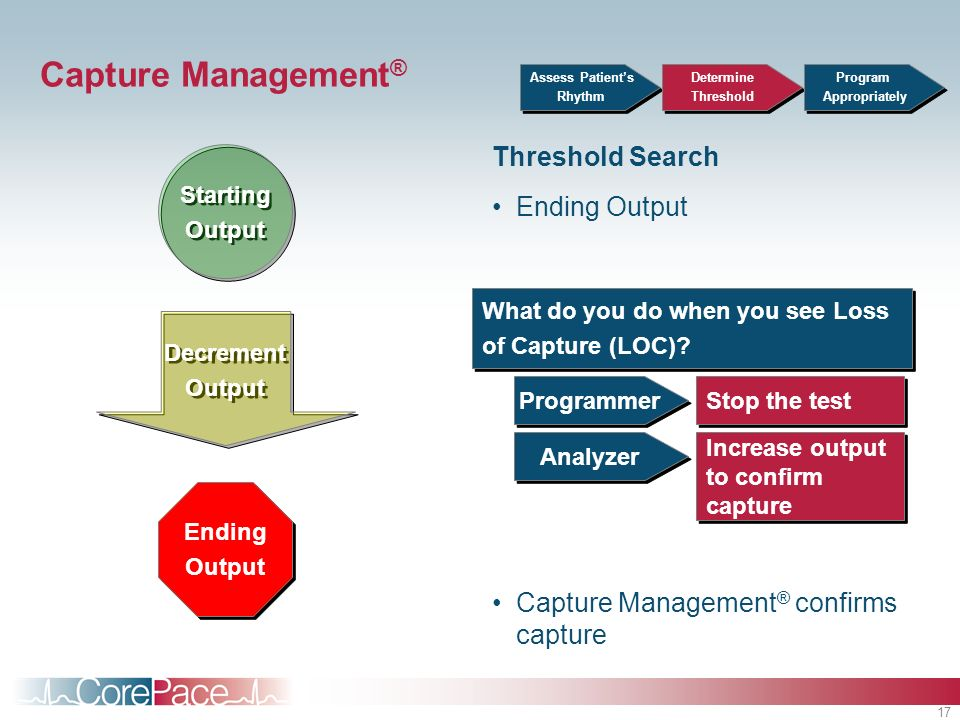 Capture Management® Threshold Search Ending Output