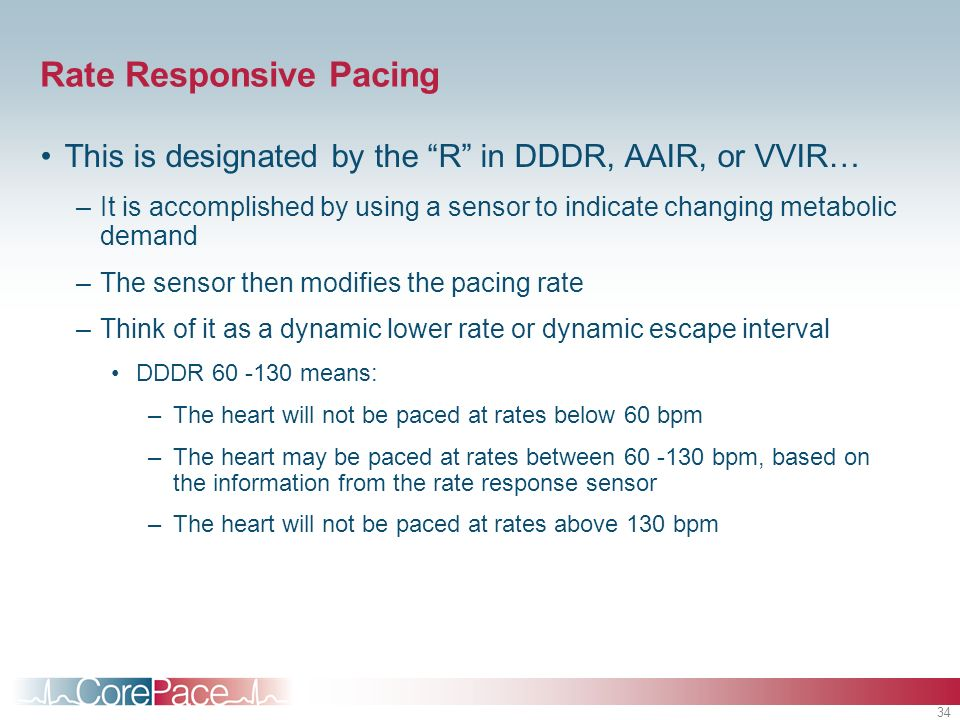 Rate Responsive Pacing