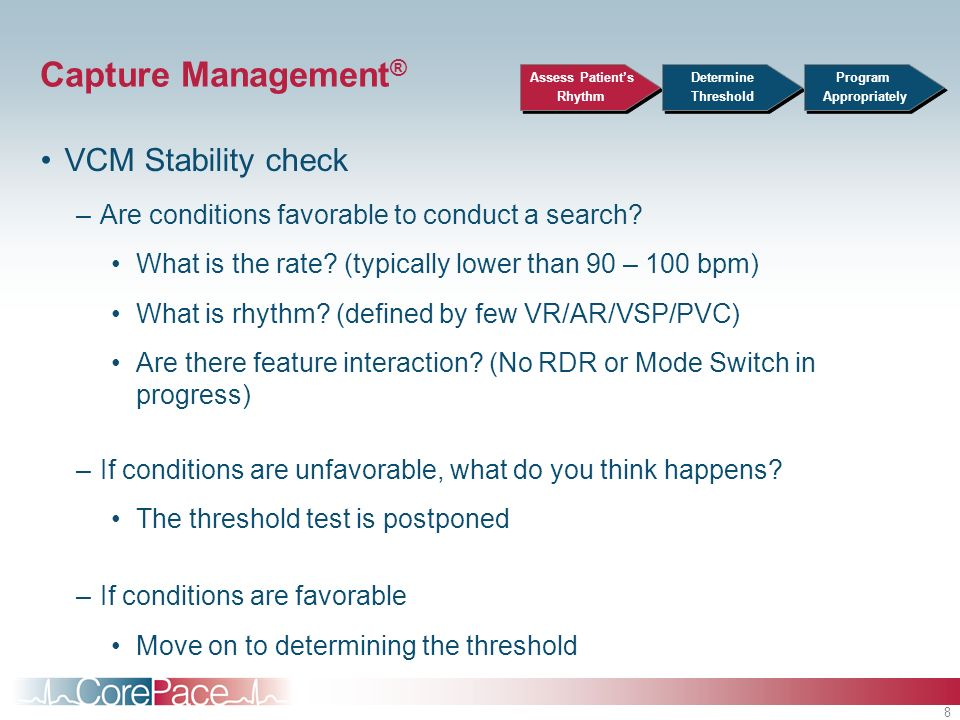Capture Management® VCM Stability check