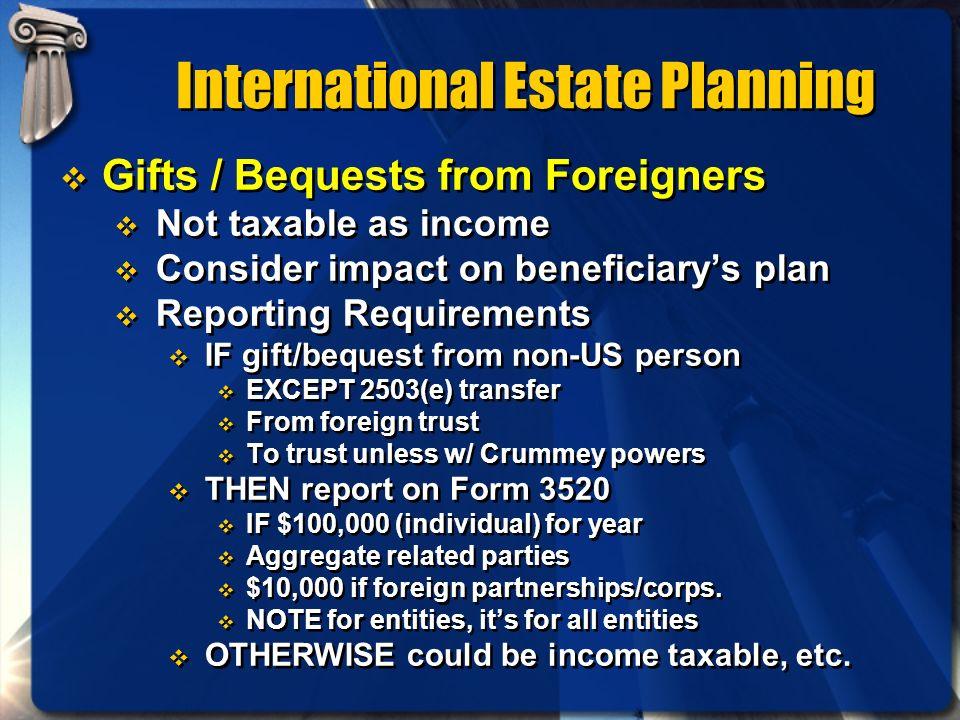 International Estate Planning