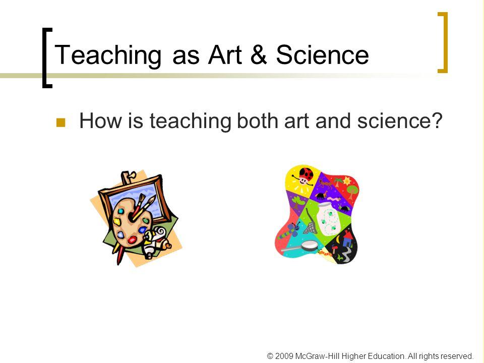 Teaching as Art & Science