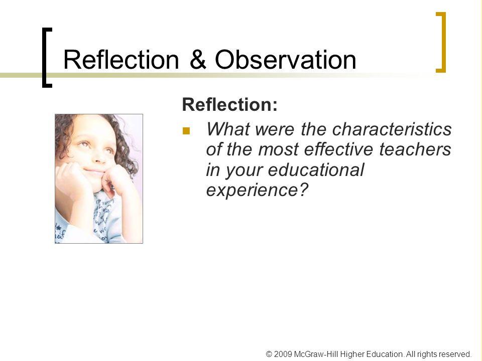 Reflection & Observation