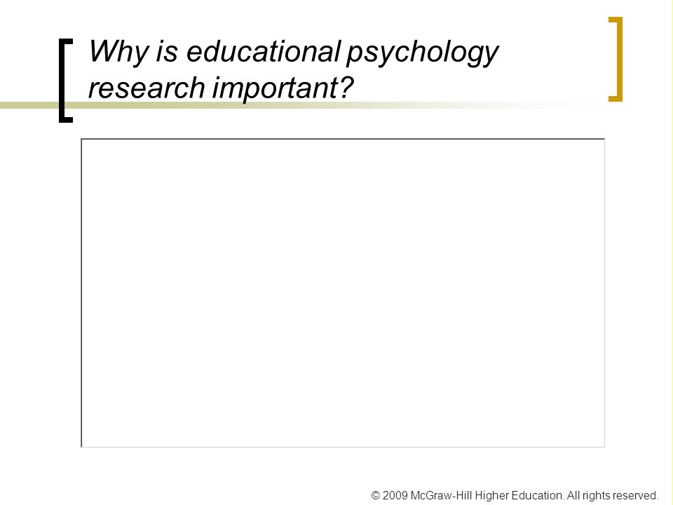 Why is educational psychology research important