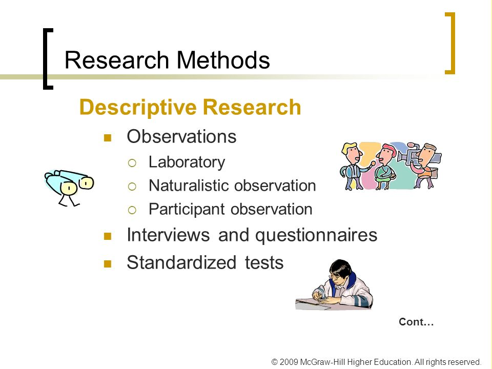 Research Methods Descriptive Research Observations