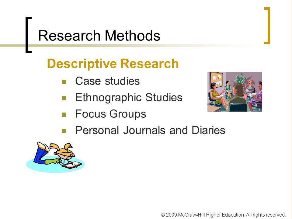 Research Methods Descriptive Research Case studies