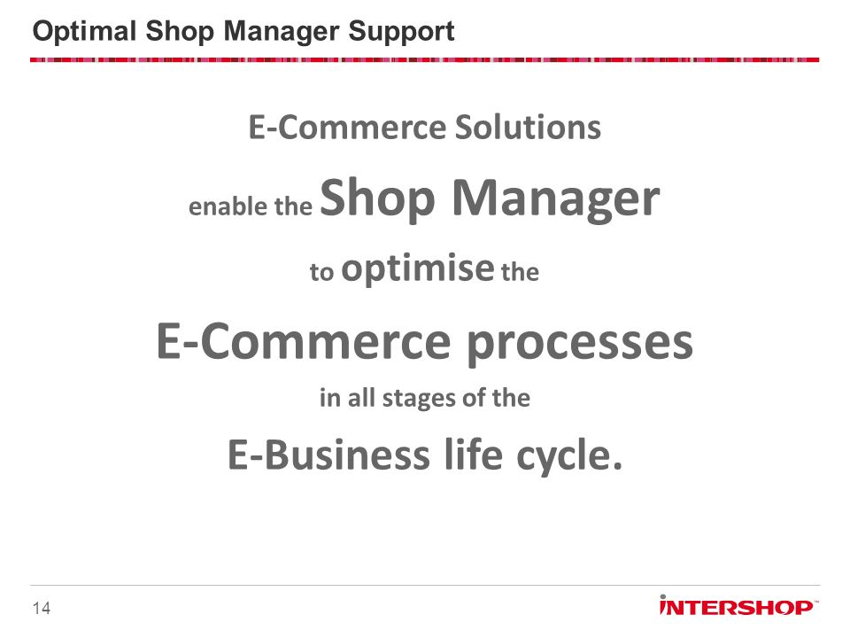 Optimal Shop Manager Support