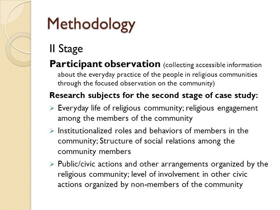 Methodology II Stage.