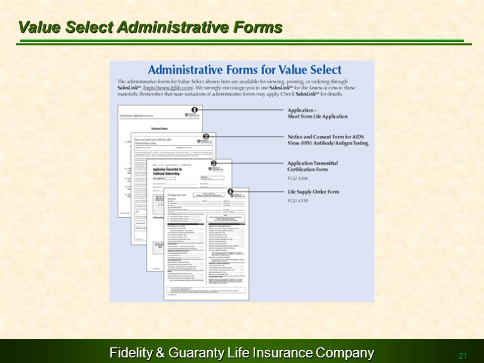 Value Select Administrative Forms