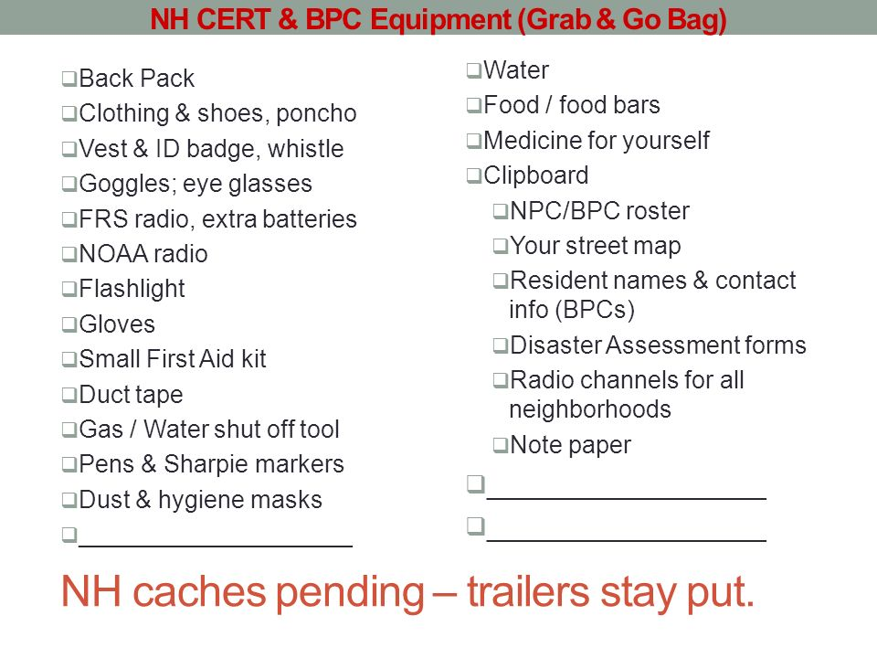 NH caches pending – trailers stay put.