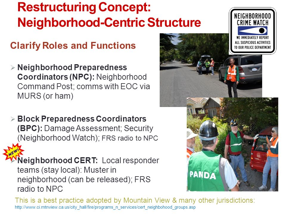 Restructuring Concept: Neighborhood-Centric Structure
