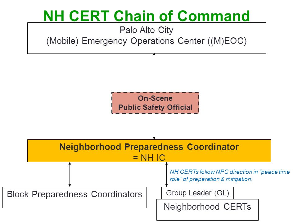 NH CERT Chain of Command