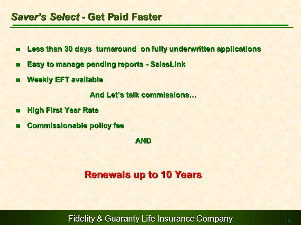 Saver's Select - Get Paid Faster