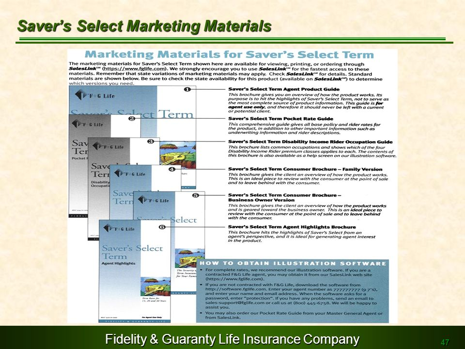 Saver's Select Marketing Materials