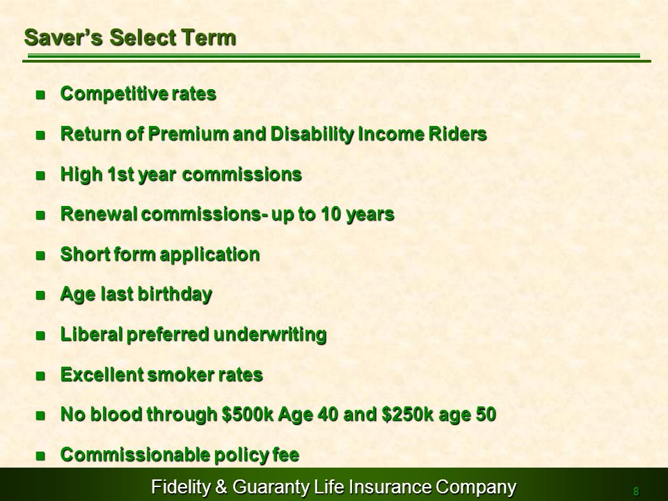 Saver's Select Term Competitive rates