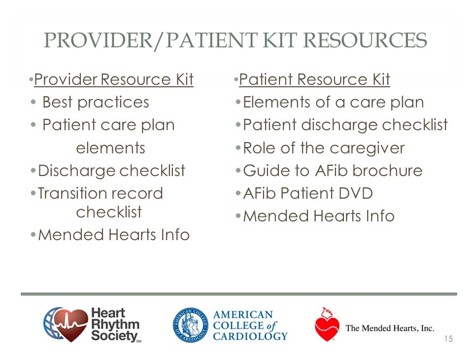 Provider/patient Kit resources