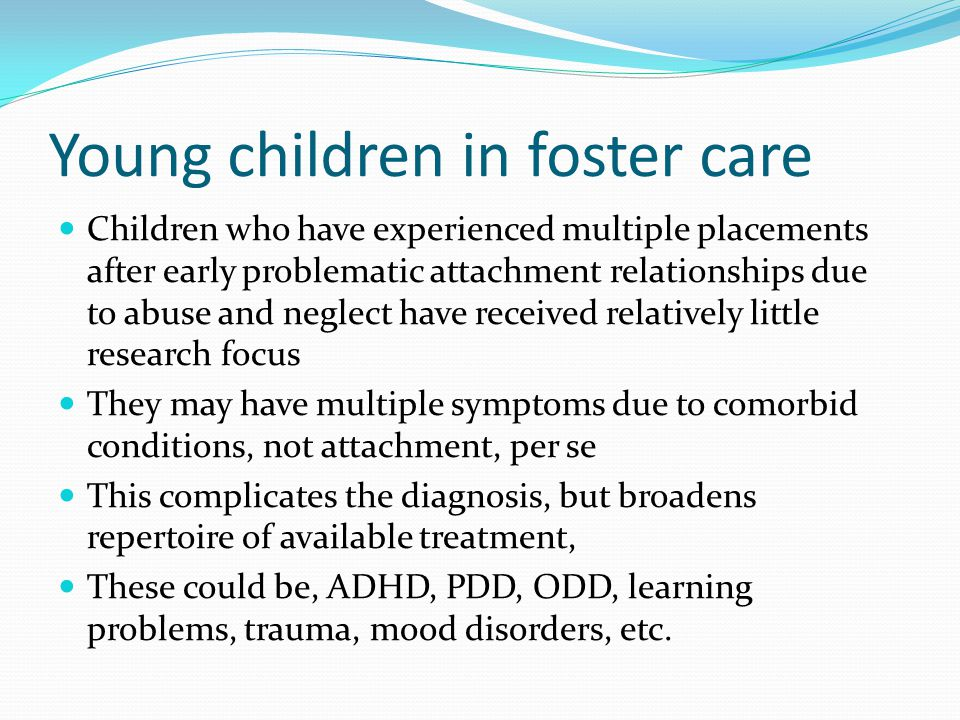 Young children in foster care