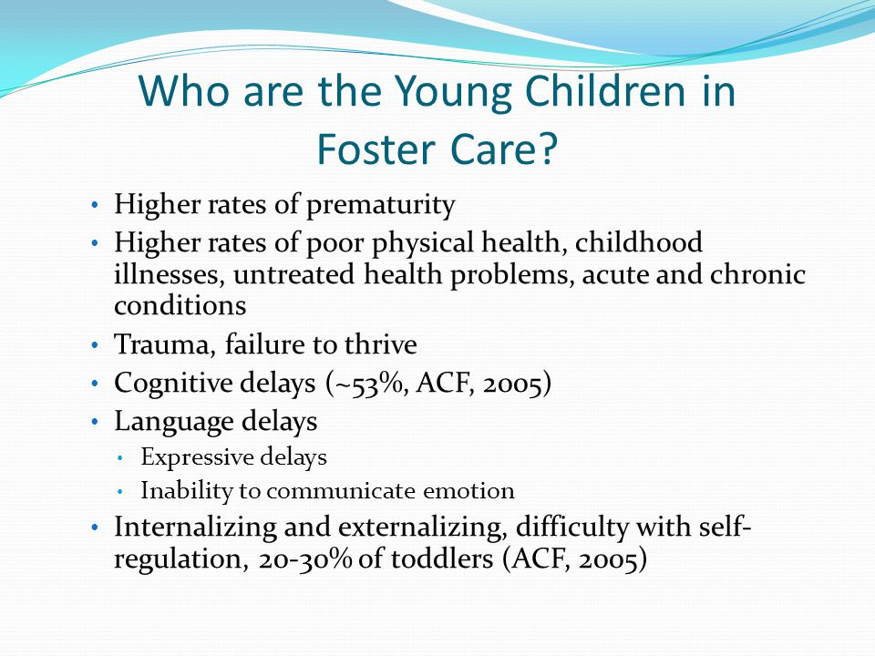 Who are the Young Children in Foster Care