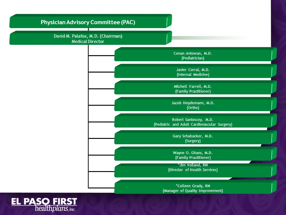 Physician Advisory Committee (PAC)