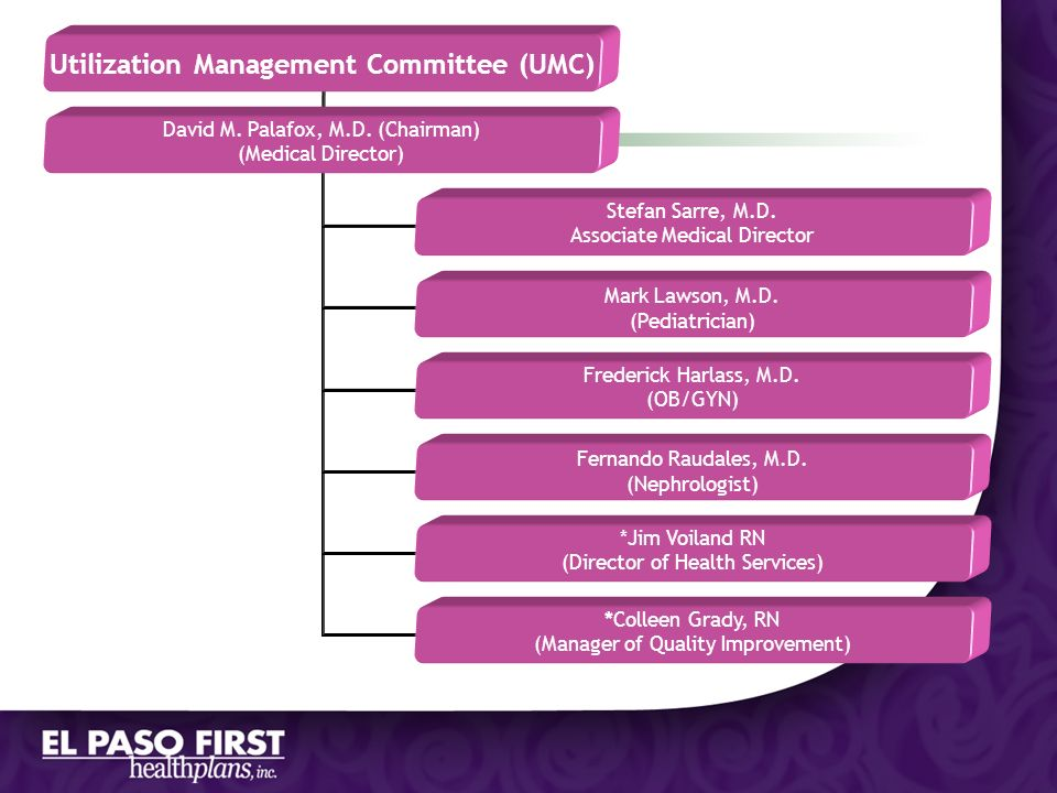Utilization Management Committee (UMC)