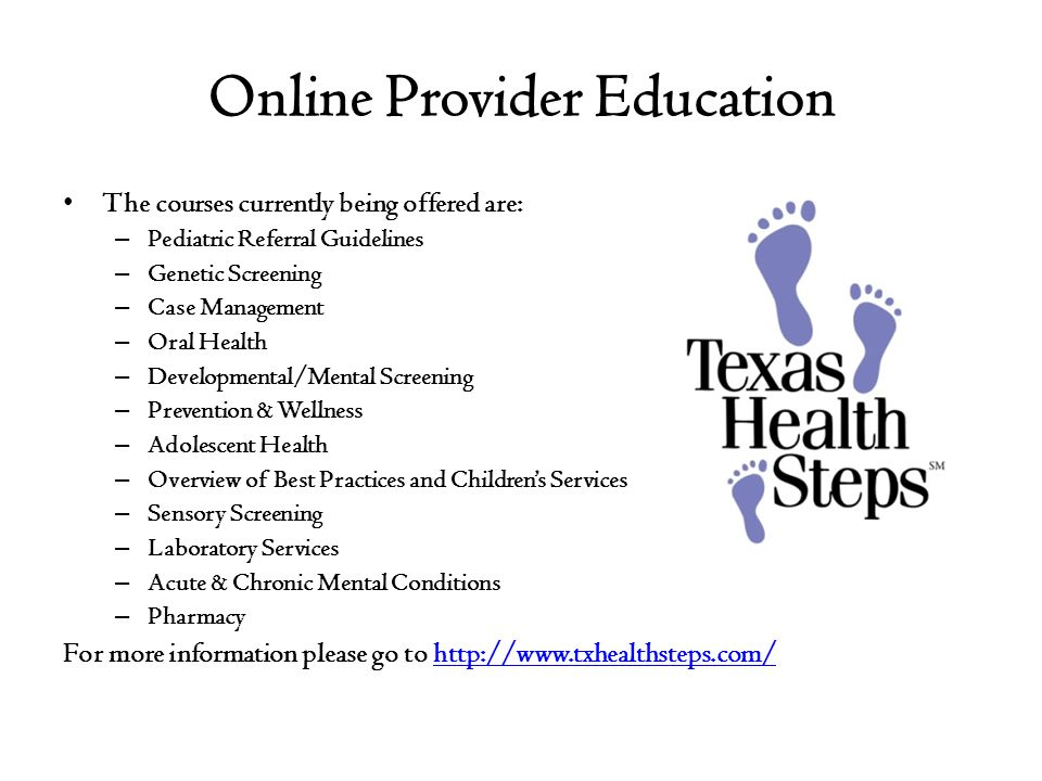 Online Provider Education