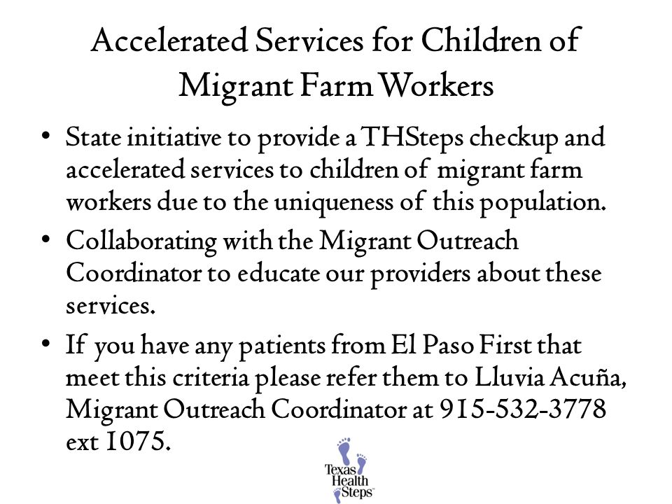 Accelerated Services for Children of Migrant Farm Workers