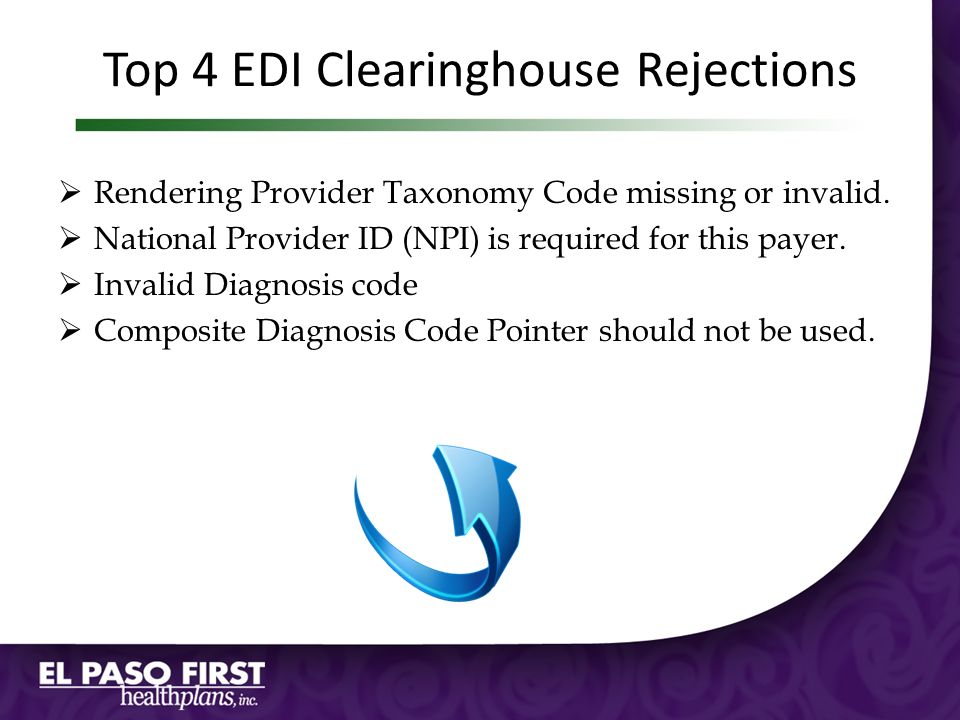 Top 4 EDI Clearinghouse Rejections