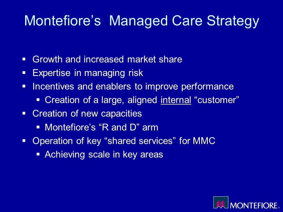 Montefiore's Managed Care Strategy