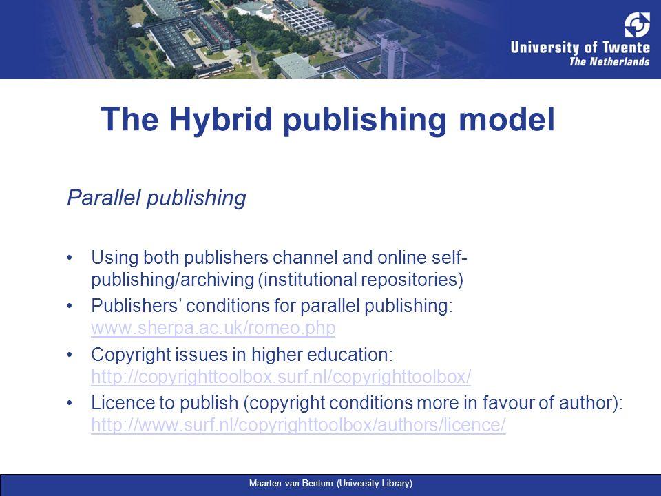 The Hybrid publishing model