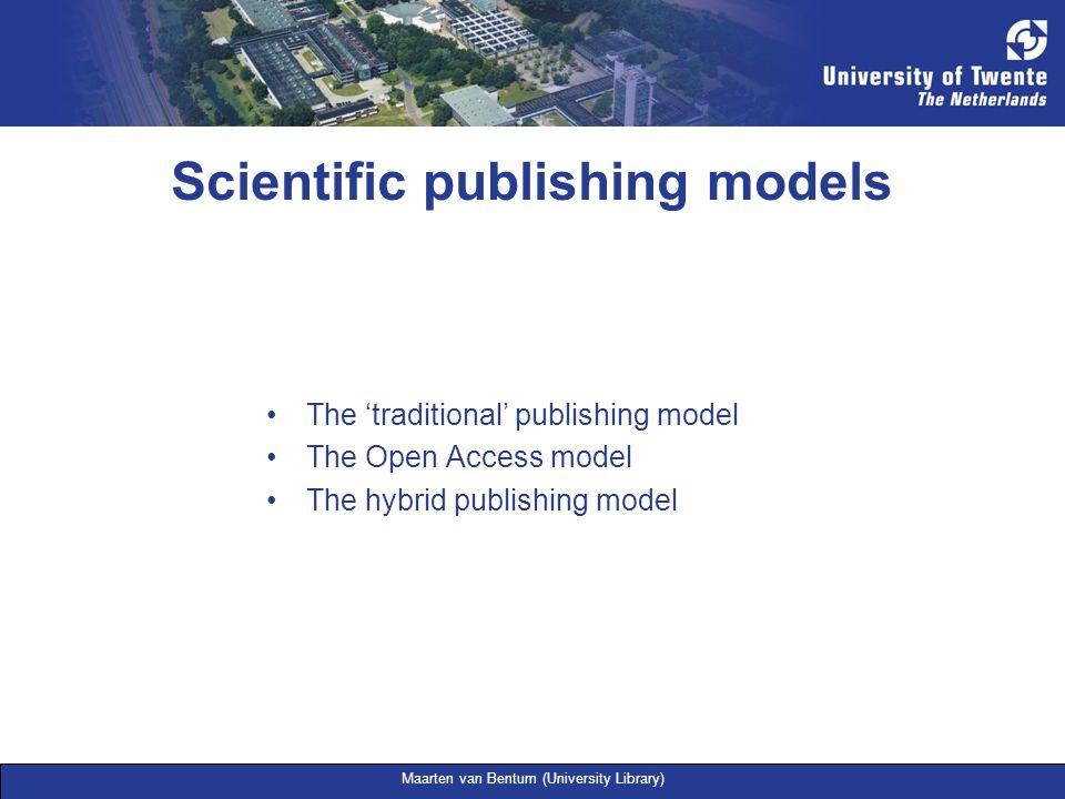 Scientific publishing models