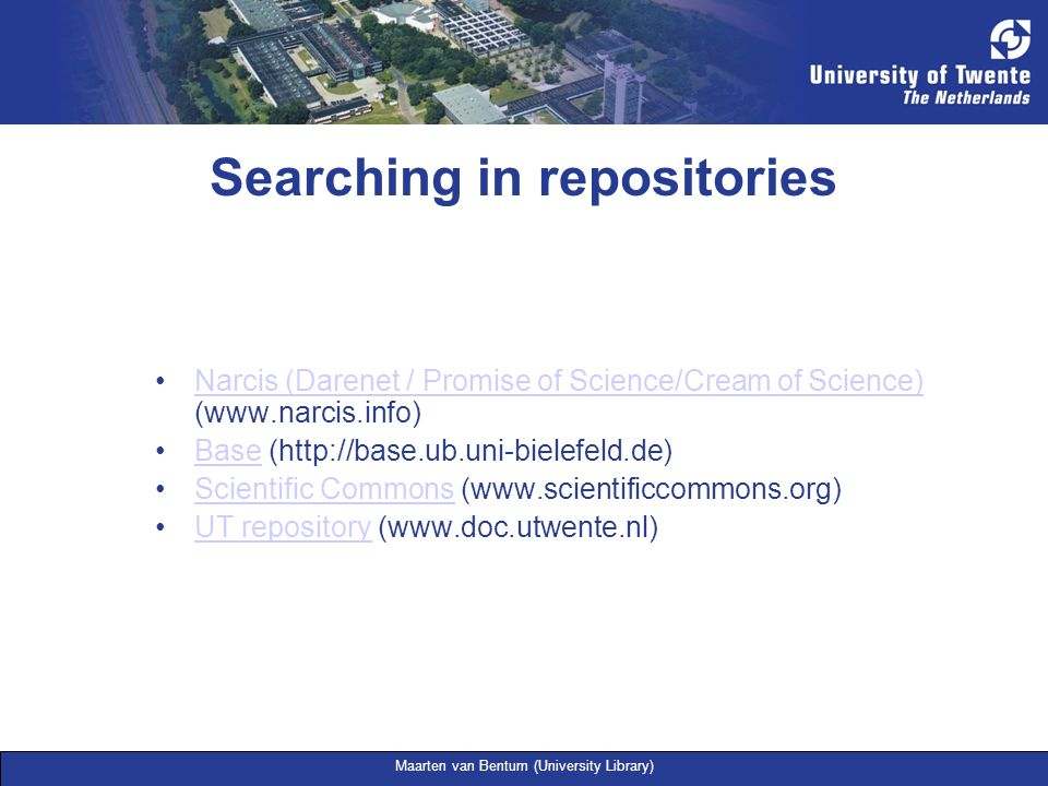 Searching in repositories