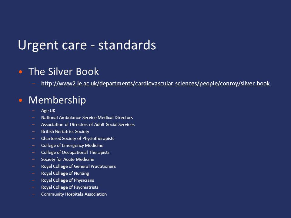 Urgent care - standards