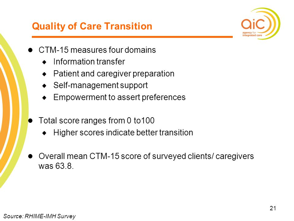 Quality of Care Transition