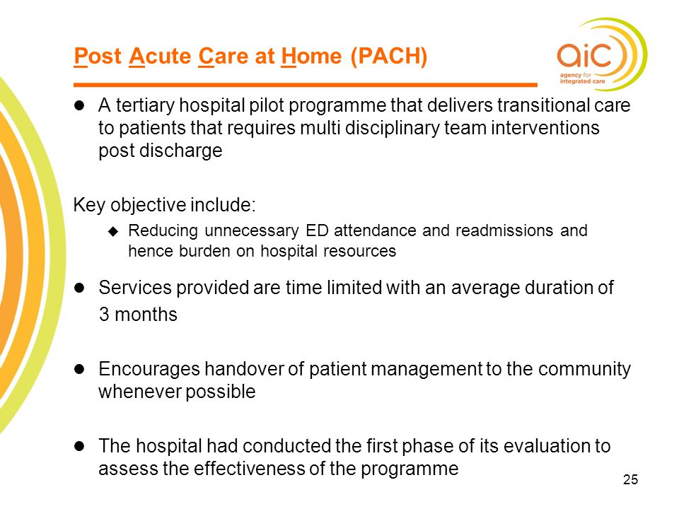 Post Acute Care at Home (PACH)