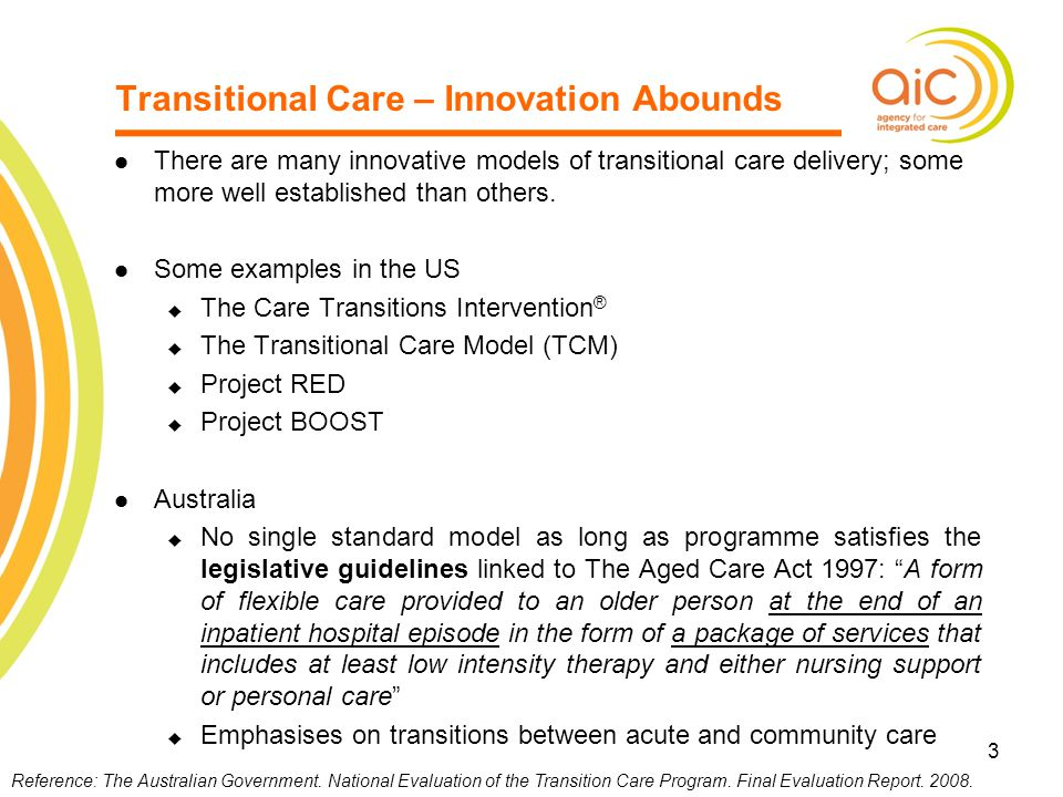 Transitional Care – Innovation Abounds