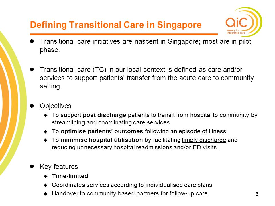 Defining Transitional Care in Singapore