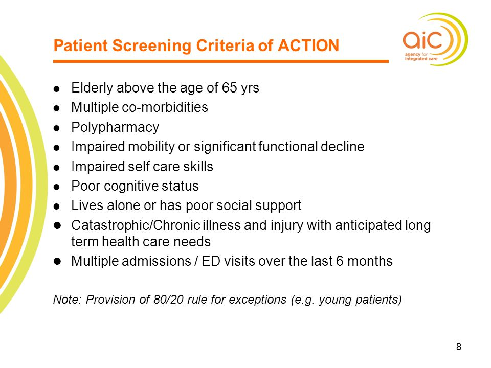 Patient Screening Criteria of ACTION