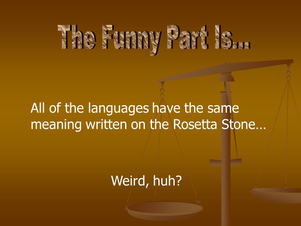 The Funny Part Is...