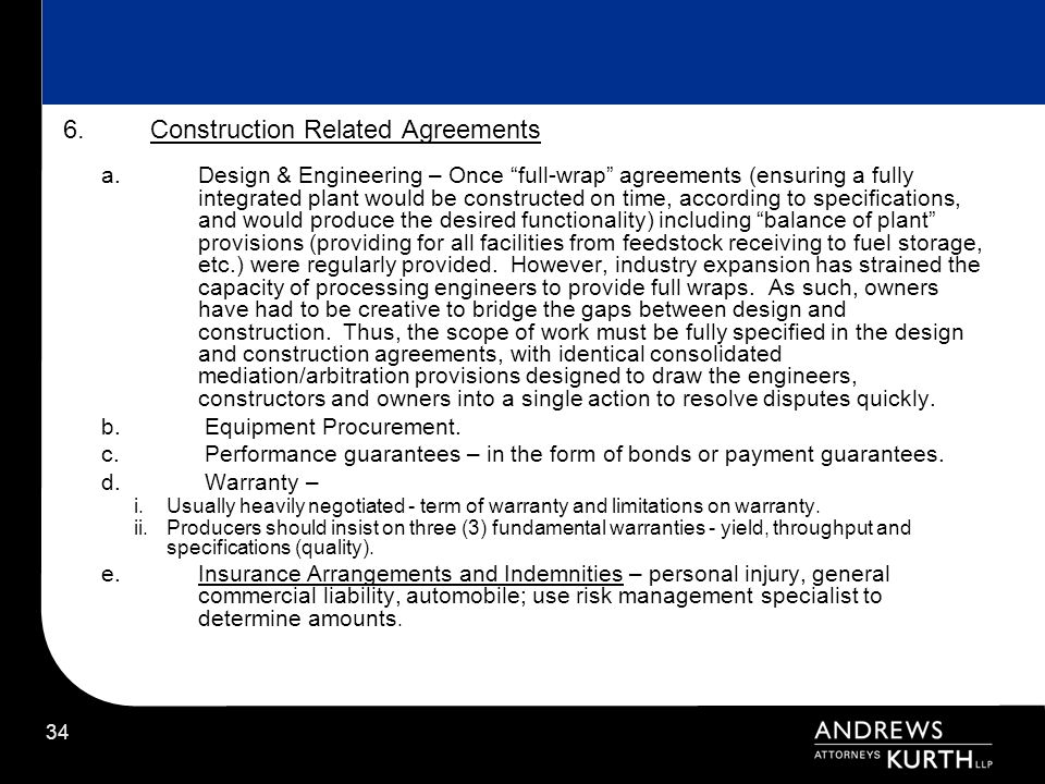 Construction Related Agreements