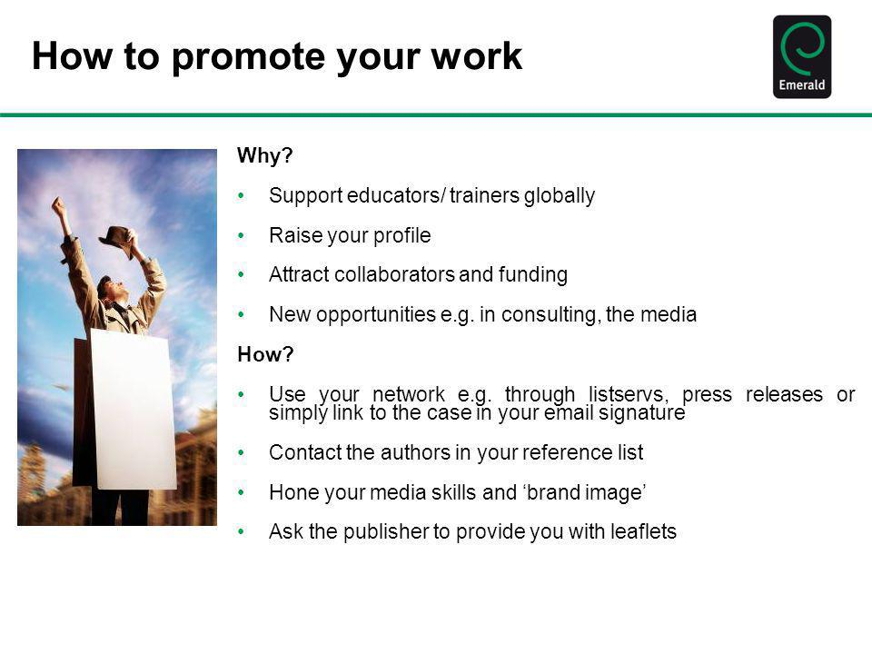 How to promote your work